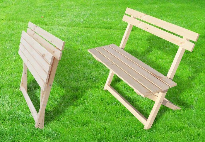 Разборная скамейка своими руками из дерева